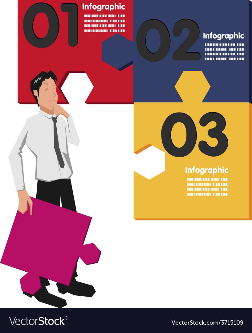 Worker jigsaw vector image