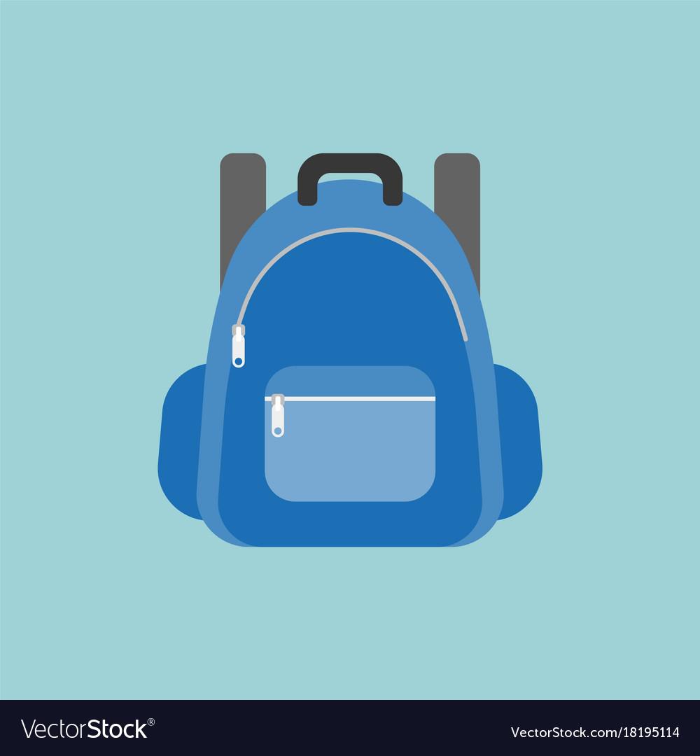 Blue rucksack or backpack