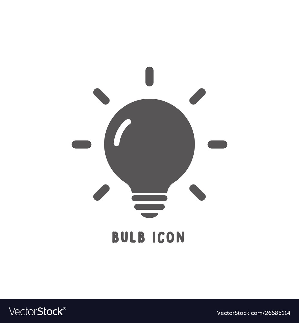Bulb icon simple flat style
