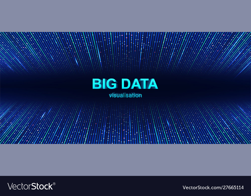 Colorful big data visualization background