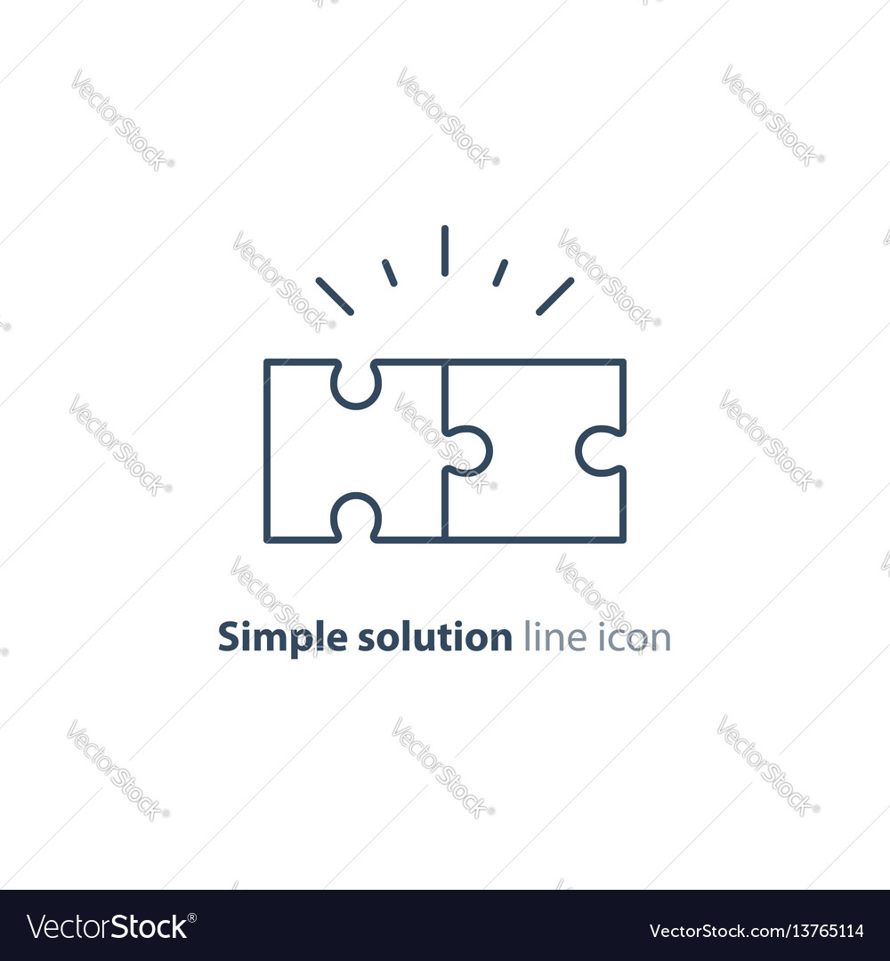 Common ground concept puzzle parts together vector image