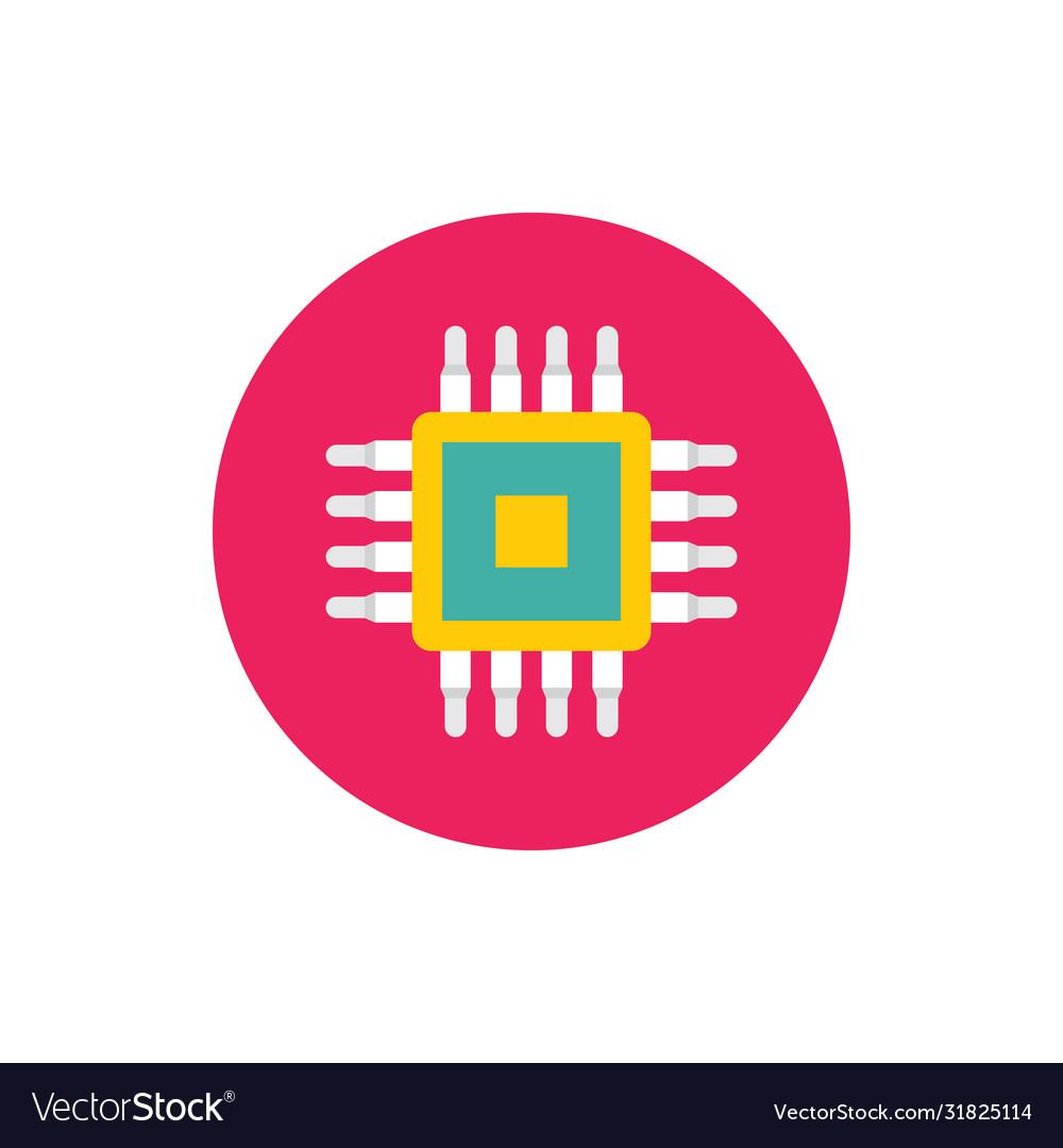 Cpu - concept colored icon in flat graphic design