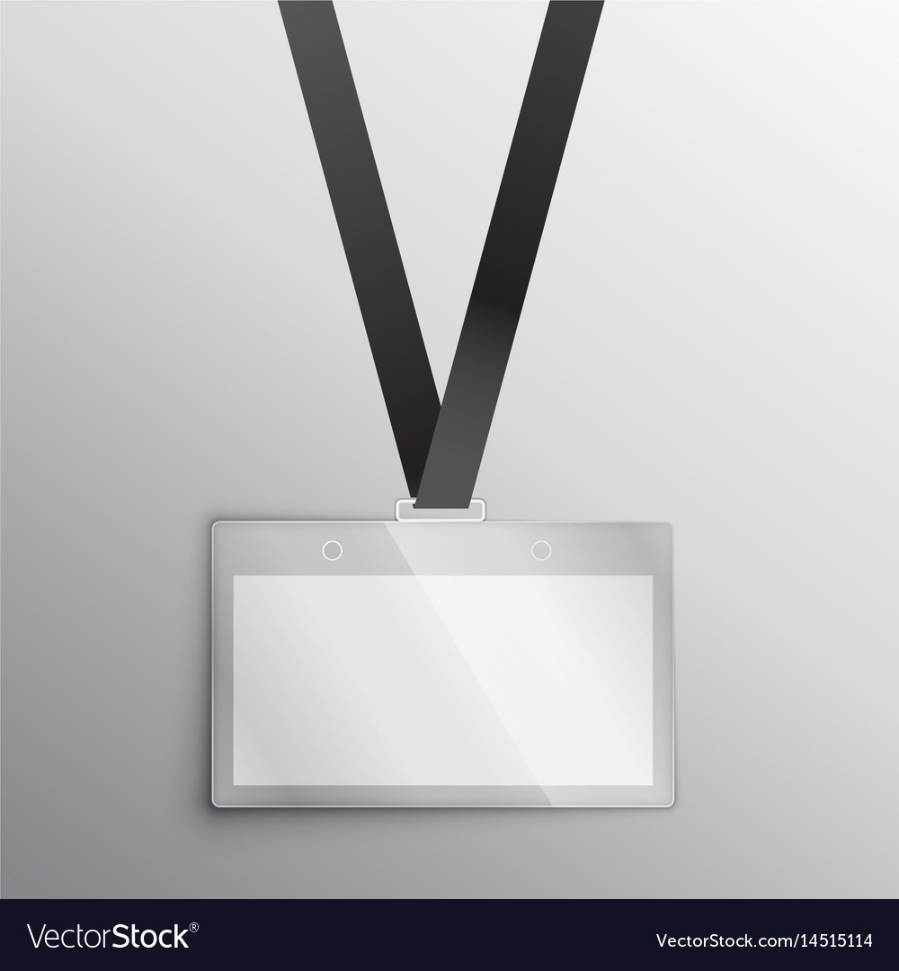 lanyard with badge access card design mockup vector image
