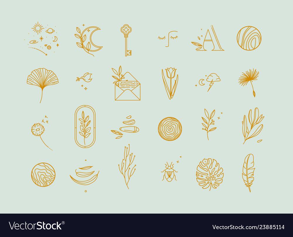 Symbols flat light turquoise
