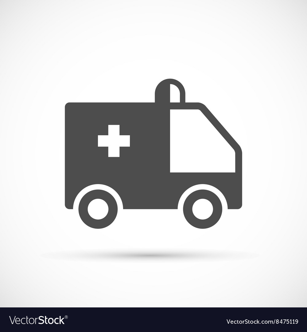 Ambulance simple icon vector image