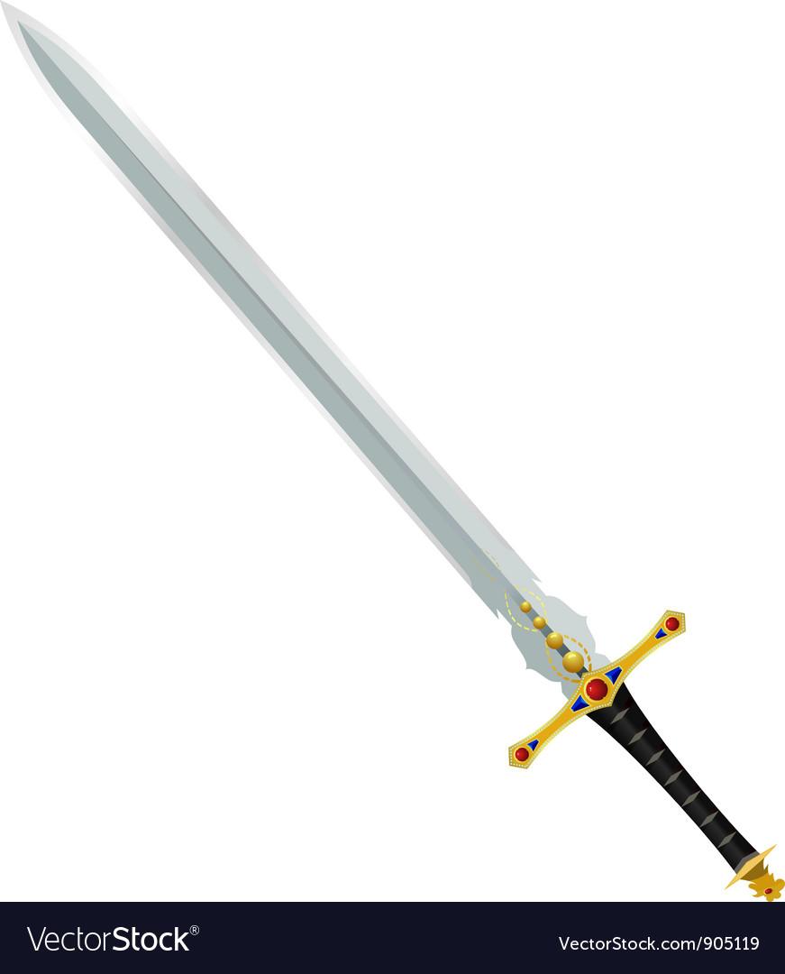 An ancient sword vector image