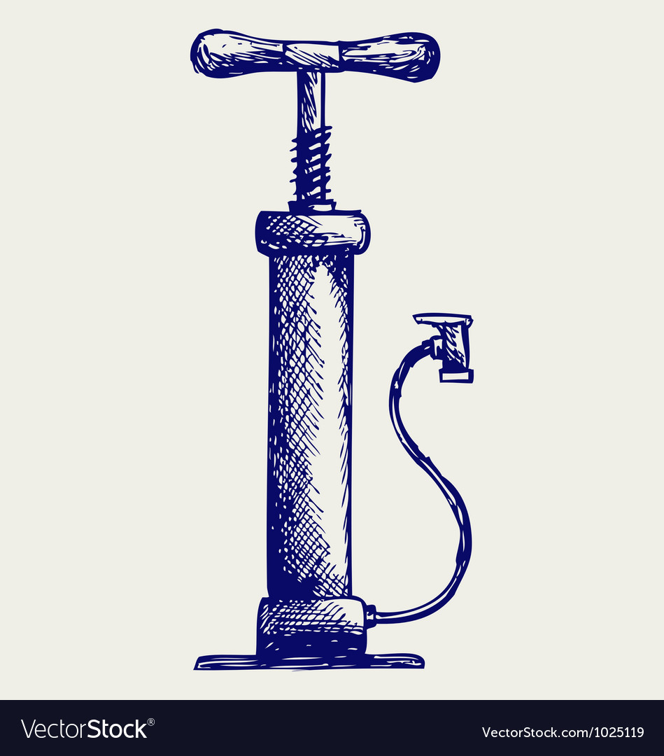 Automobile air-pump vector image