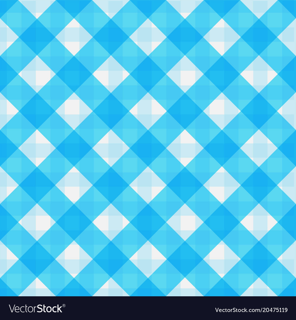 Blue Retro Tablecloth Texture Vector Image