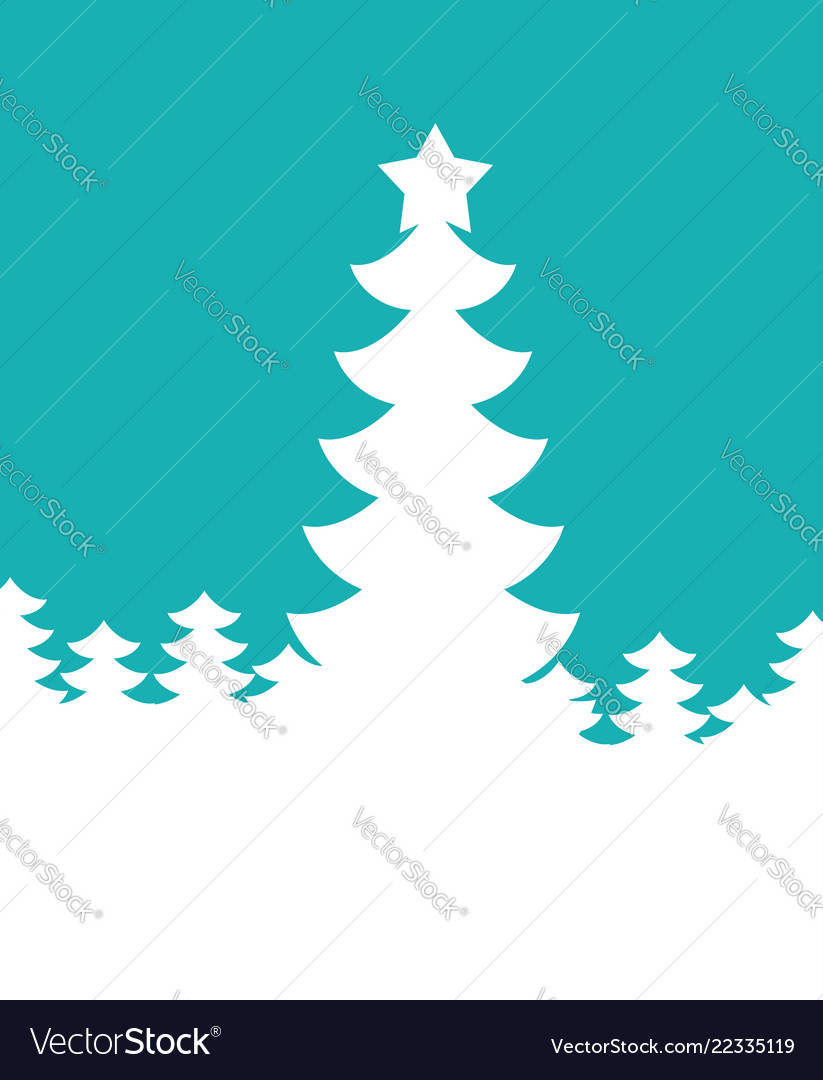 Christmas tree silhouette new year background