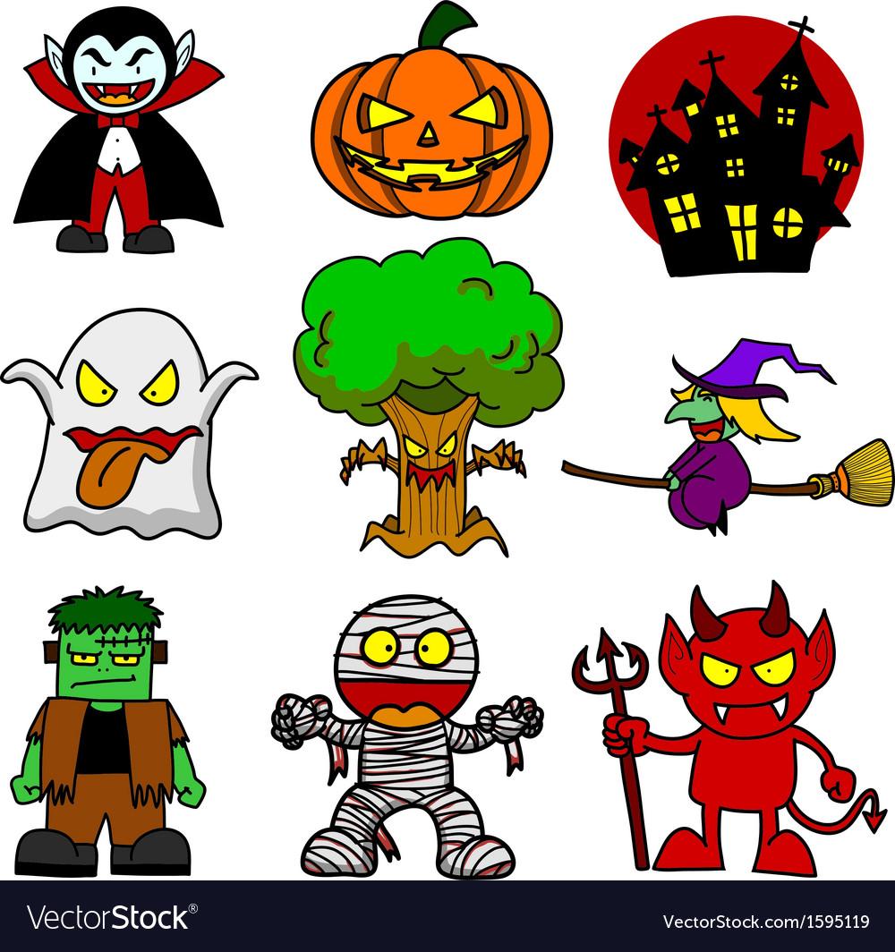 Halloween Character Cartoon Royalty Free Vector Image