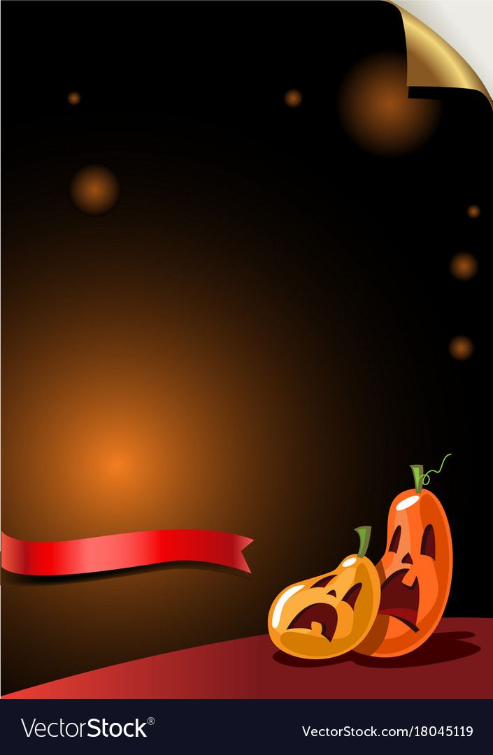 Halloween party background with scary pumpkins