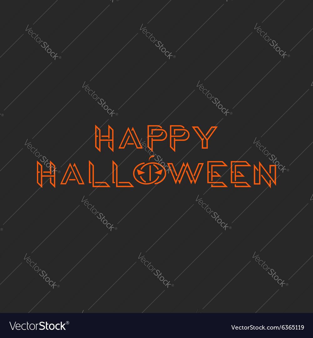 Happy halloween orange text monogram mockup