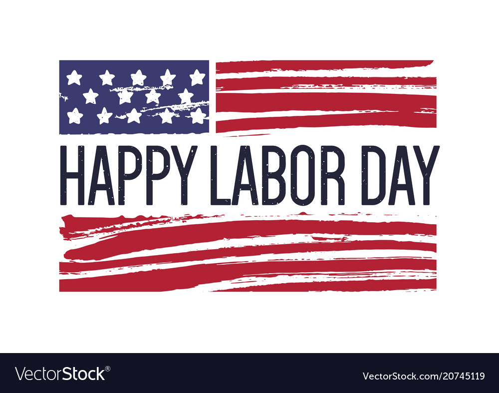 Happy labor day phrase or wish against usa