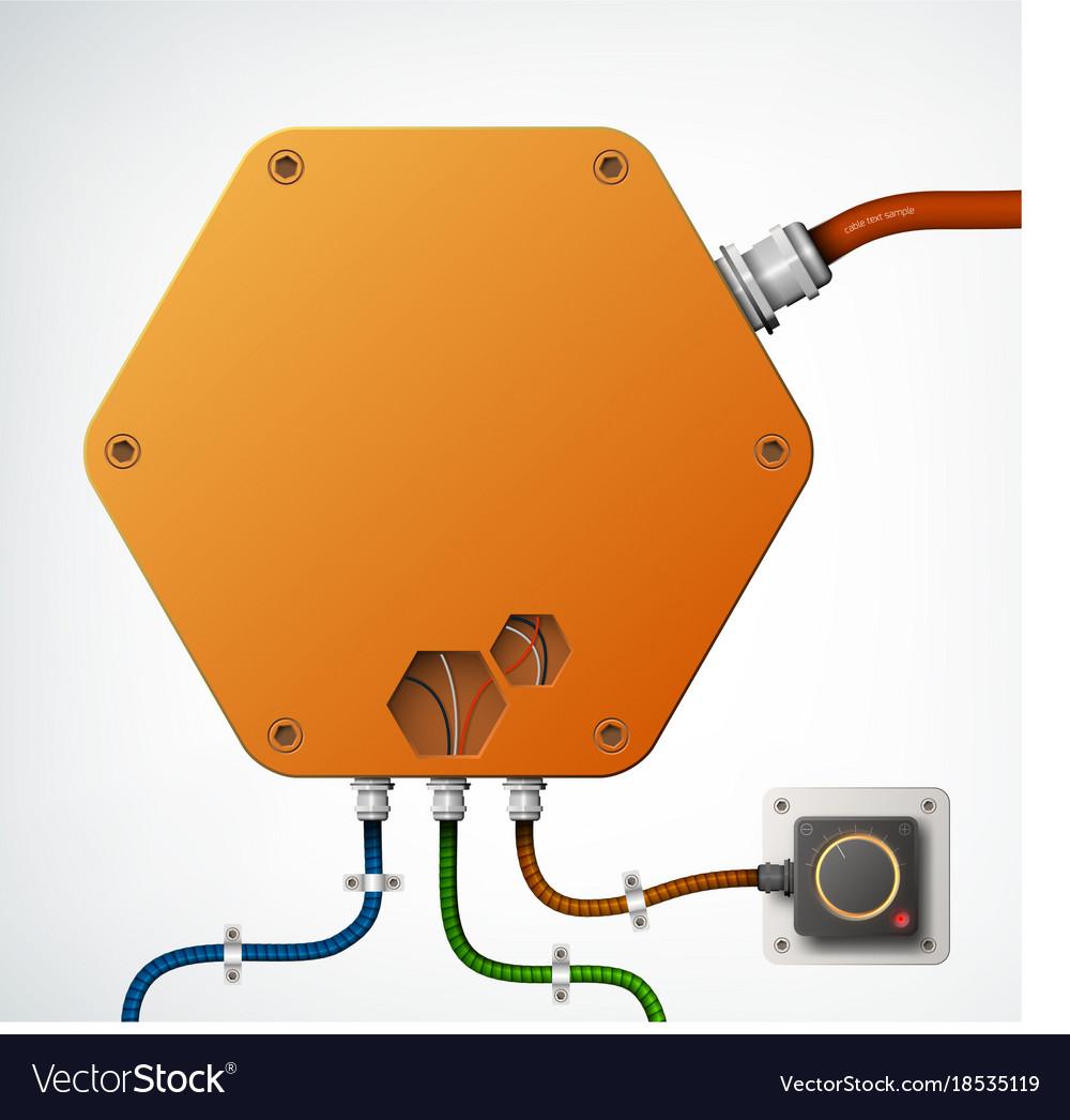 High-tech industrial box composition vector image