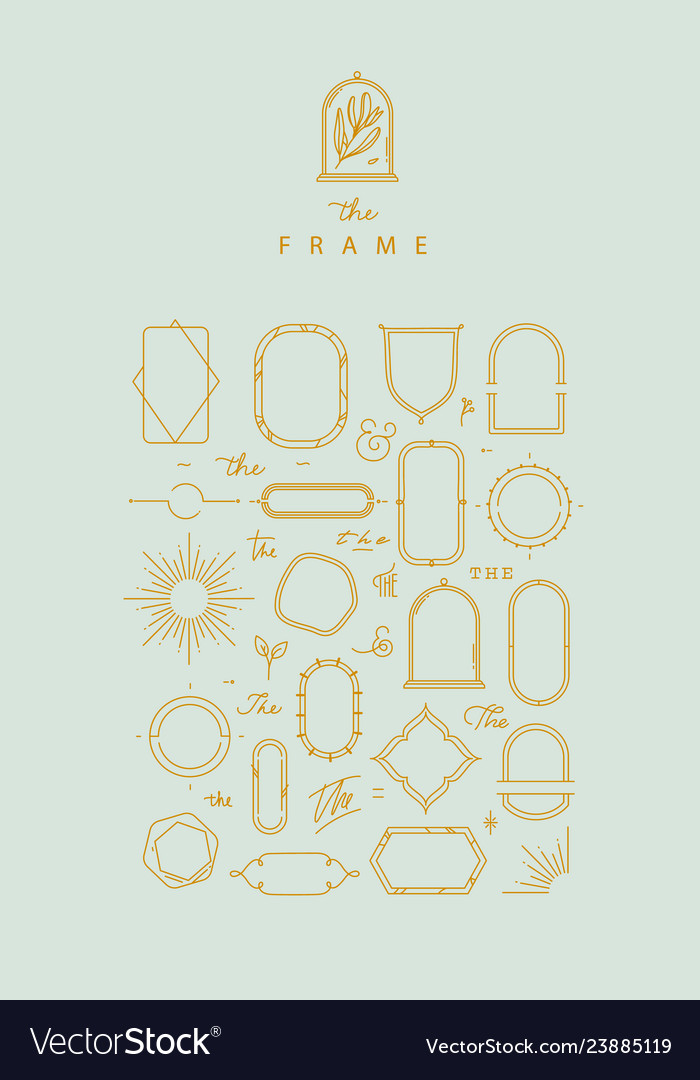 Modern frames and elements turquoise