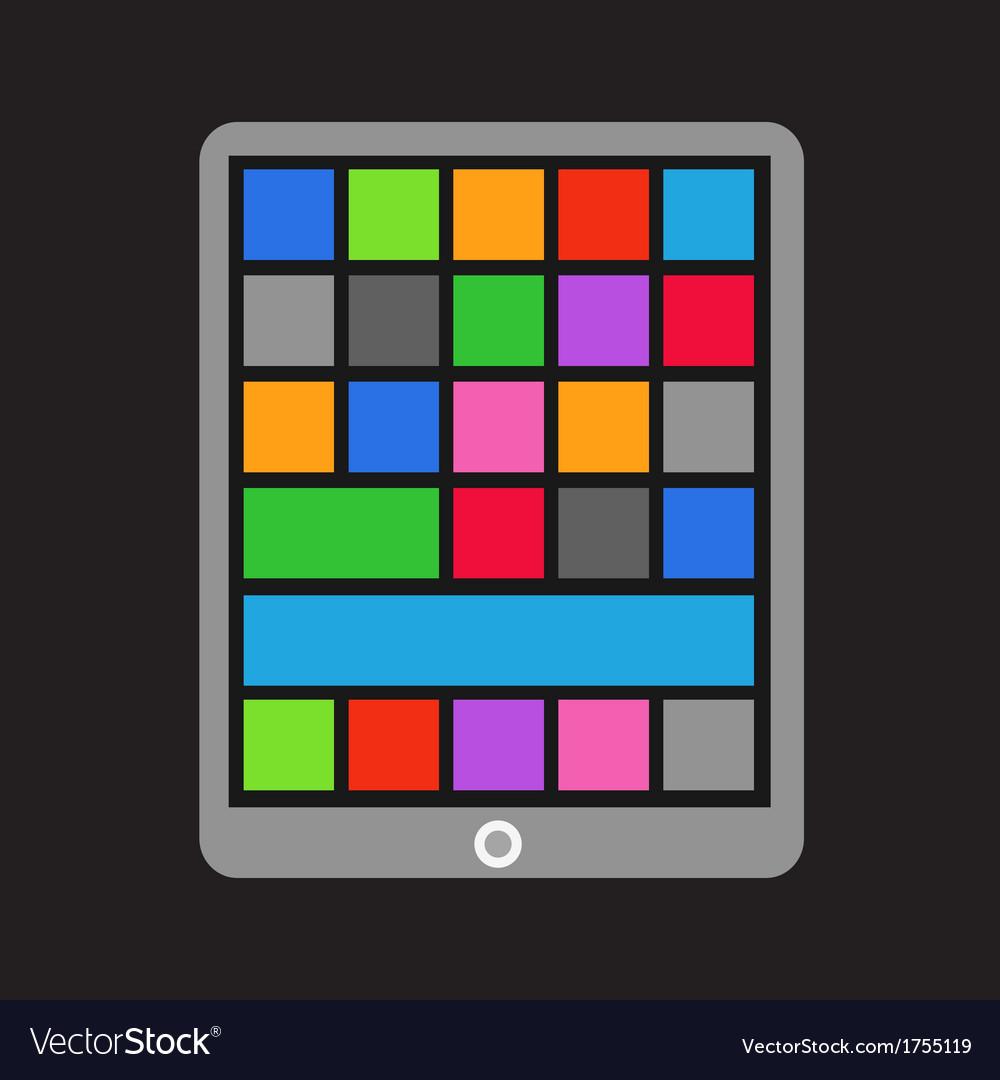 Modern tablet gadget