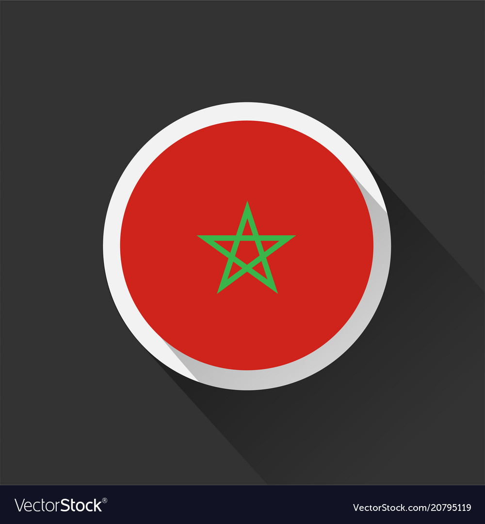 Morocco national flag on dark background