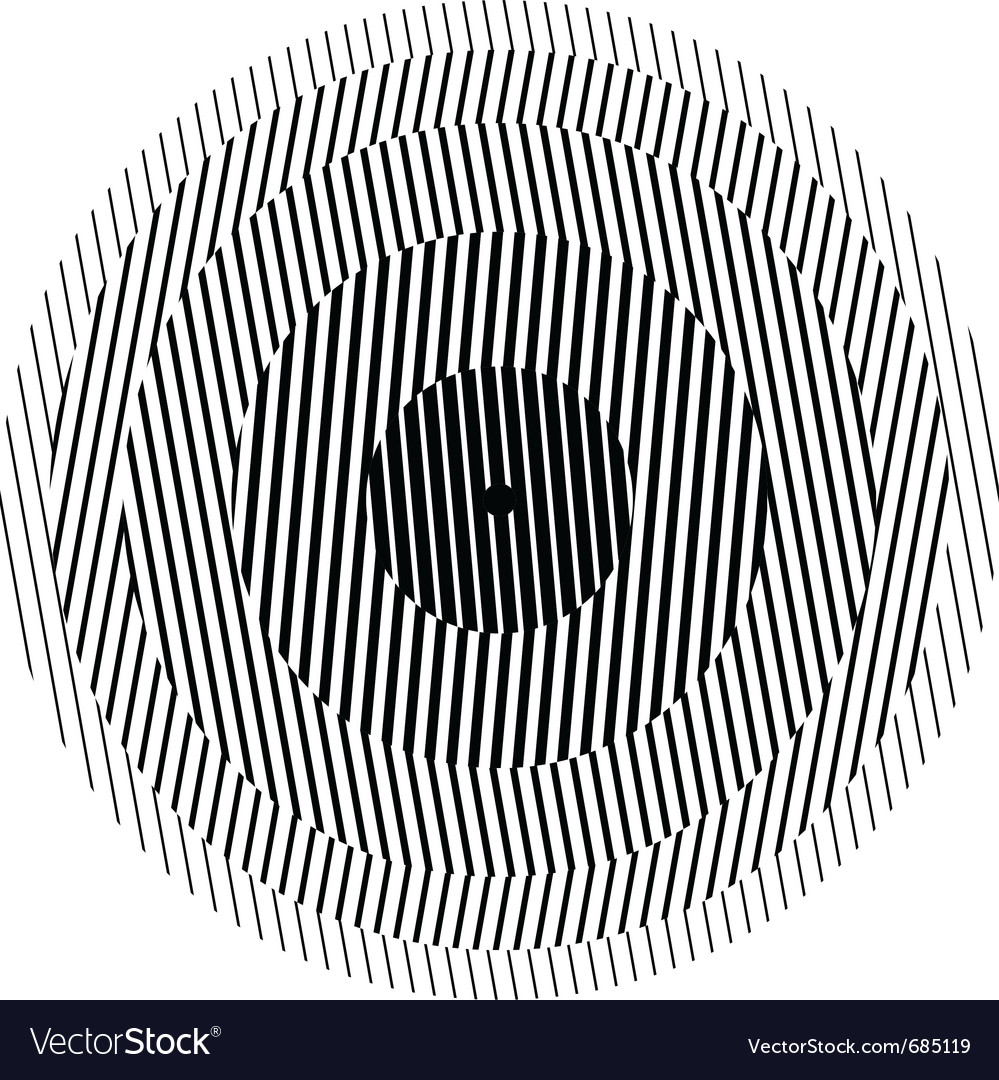 Optical illusion circle vector image