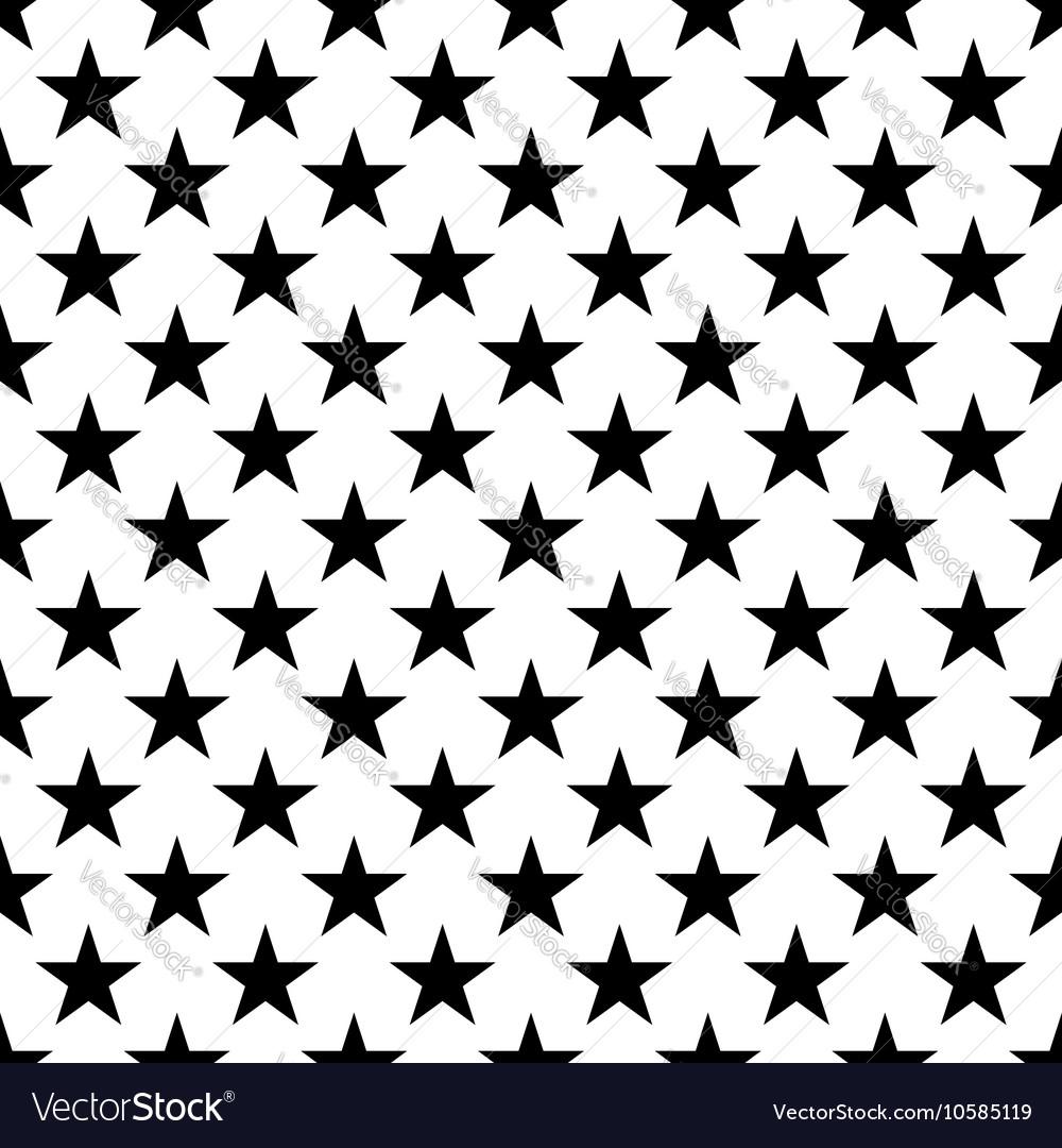Stars Seamless Pattern Small Black White