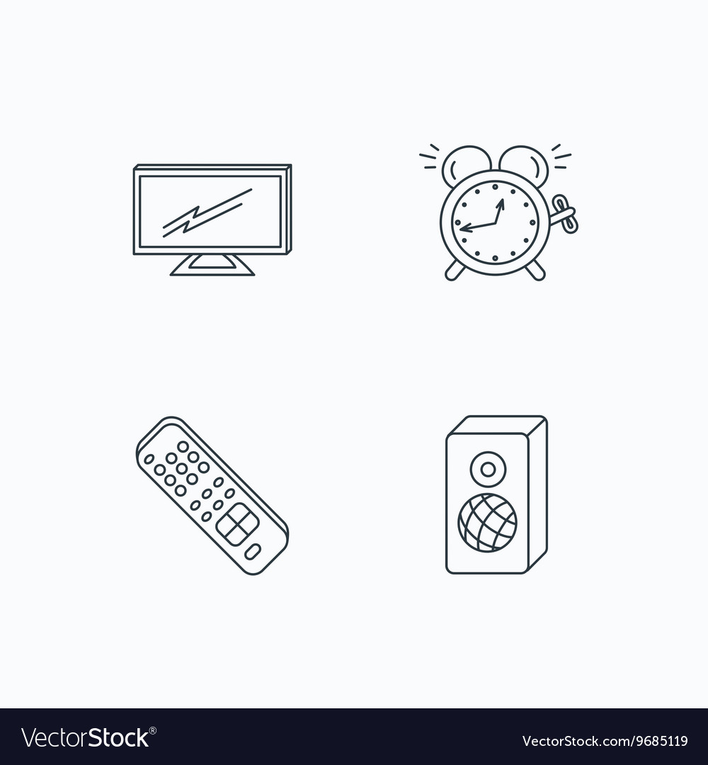 Alarm Diagram Icons Another Blog About Wiring Fuse Box Tv Remote Clock And Sound Royalty Free Vector Rh Vectorstock Com