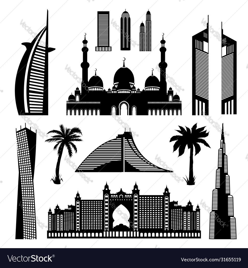 United arab emirates dubai architectural
