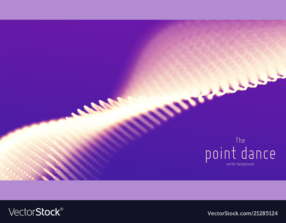 Abstract violet particle wave points array