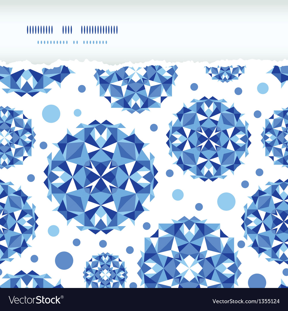 Blue abstract circles square seamless pattern