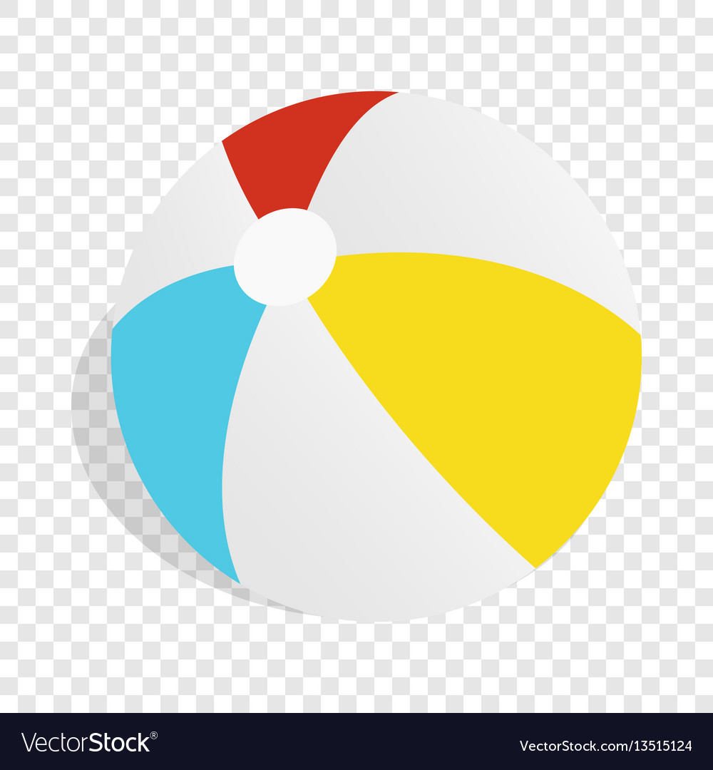 Colorful ball isometric icon