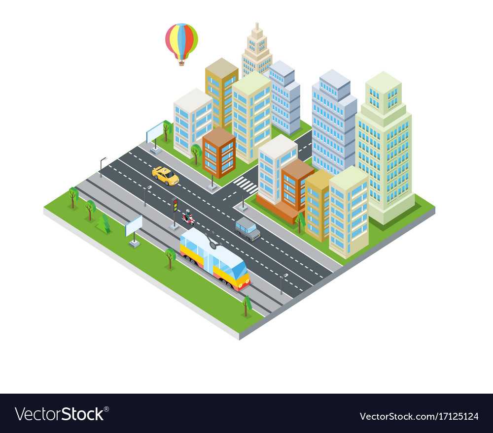 Eco city design modern architecture Royalty Free Vector