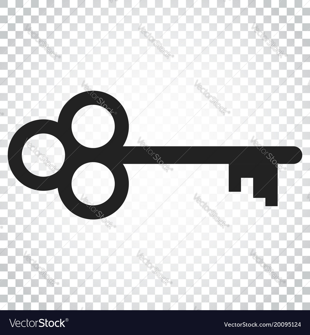 Key icon key flat simple business concept