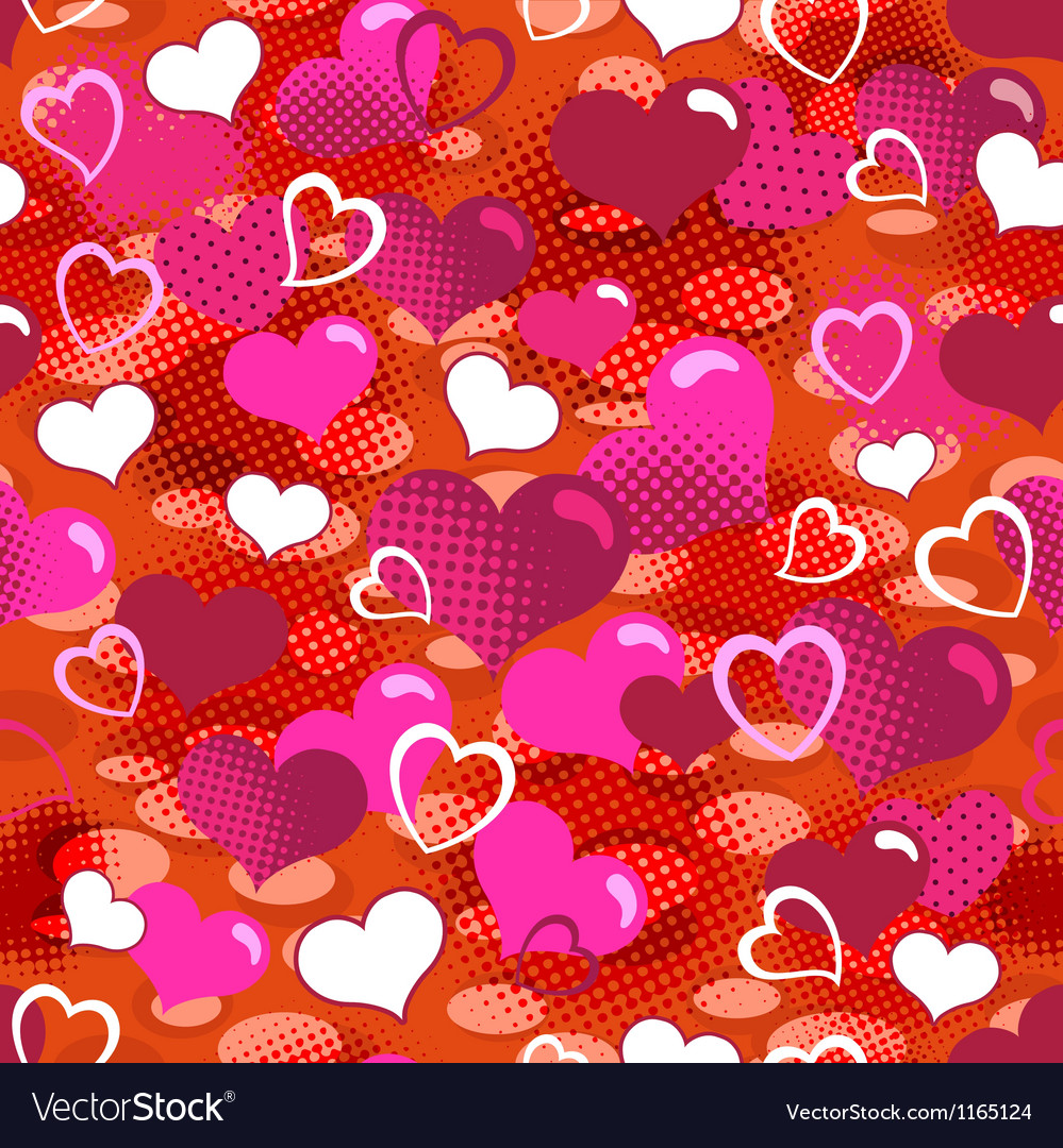 Lovely Hearts Seamless Background Royalty Free Vector Image
