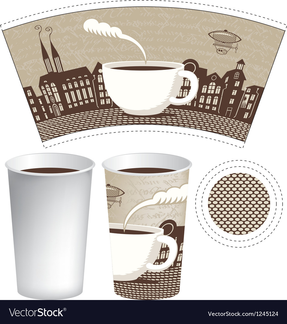 Paper cup vector image
