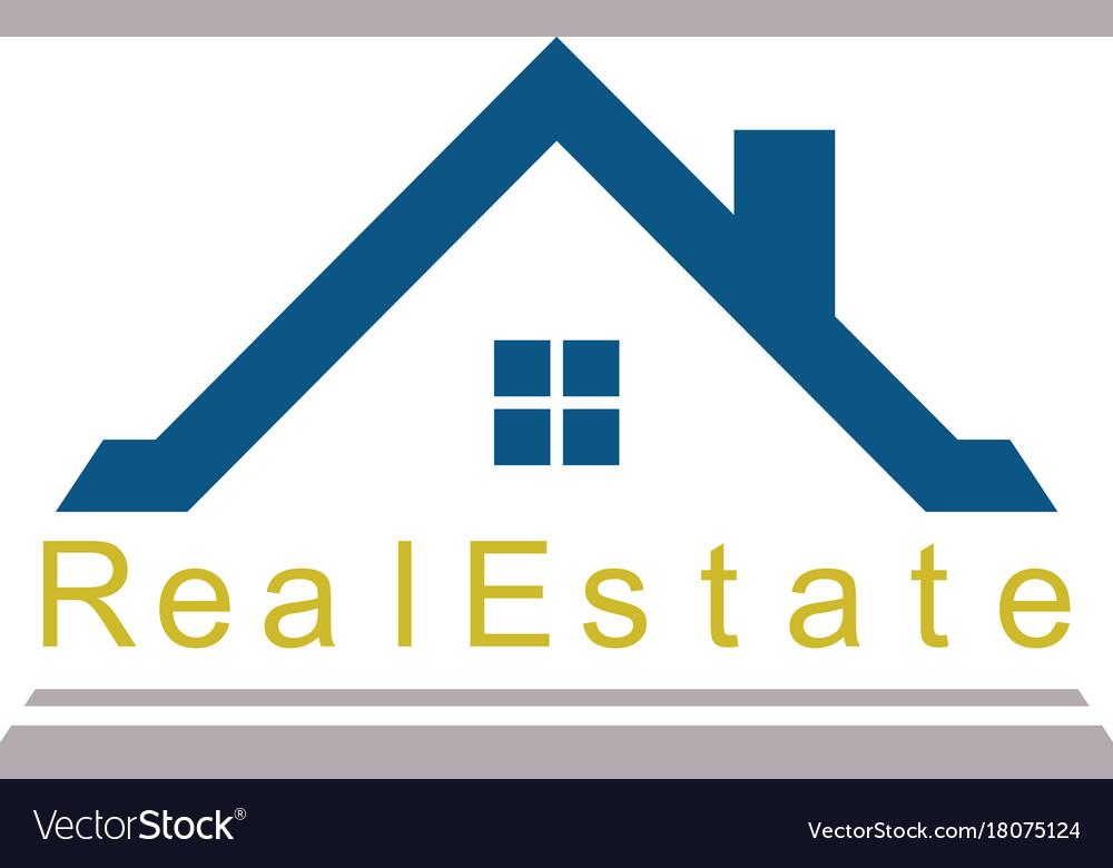 real estate logo royalty free vector image vectorstock rh vectorstock com realtor logo vector mls realtor logo vector art