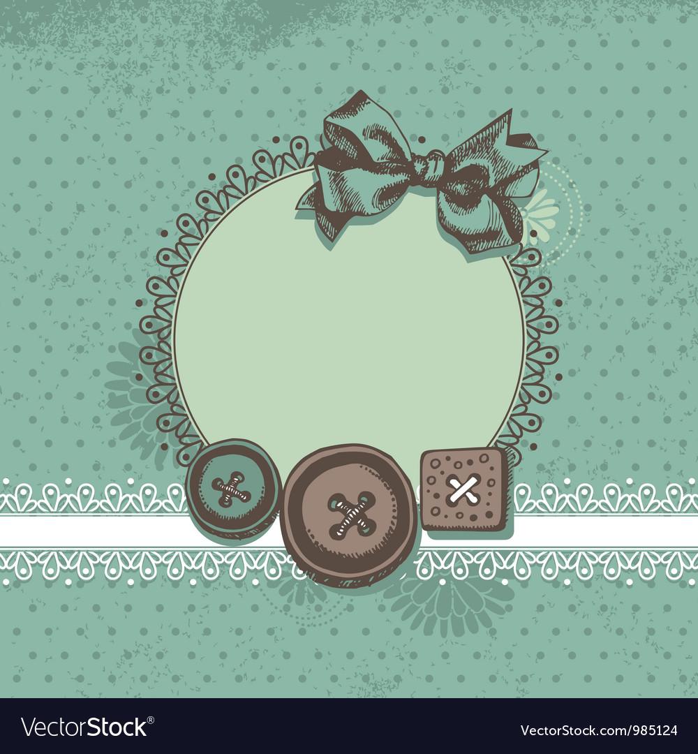 Scrapbook background vector image
