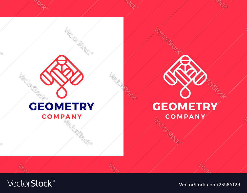 Abstract logotype template positive and negative