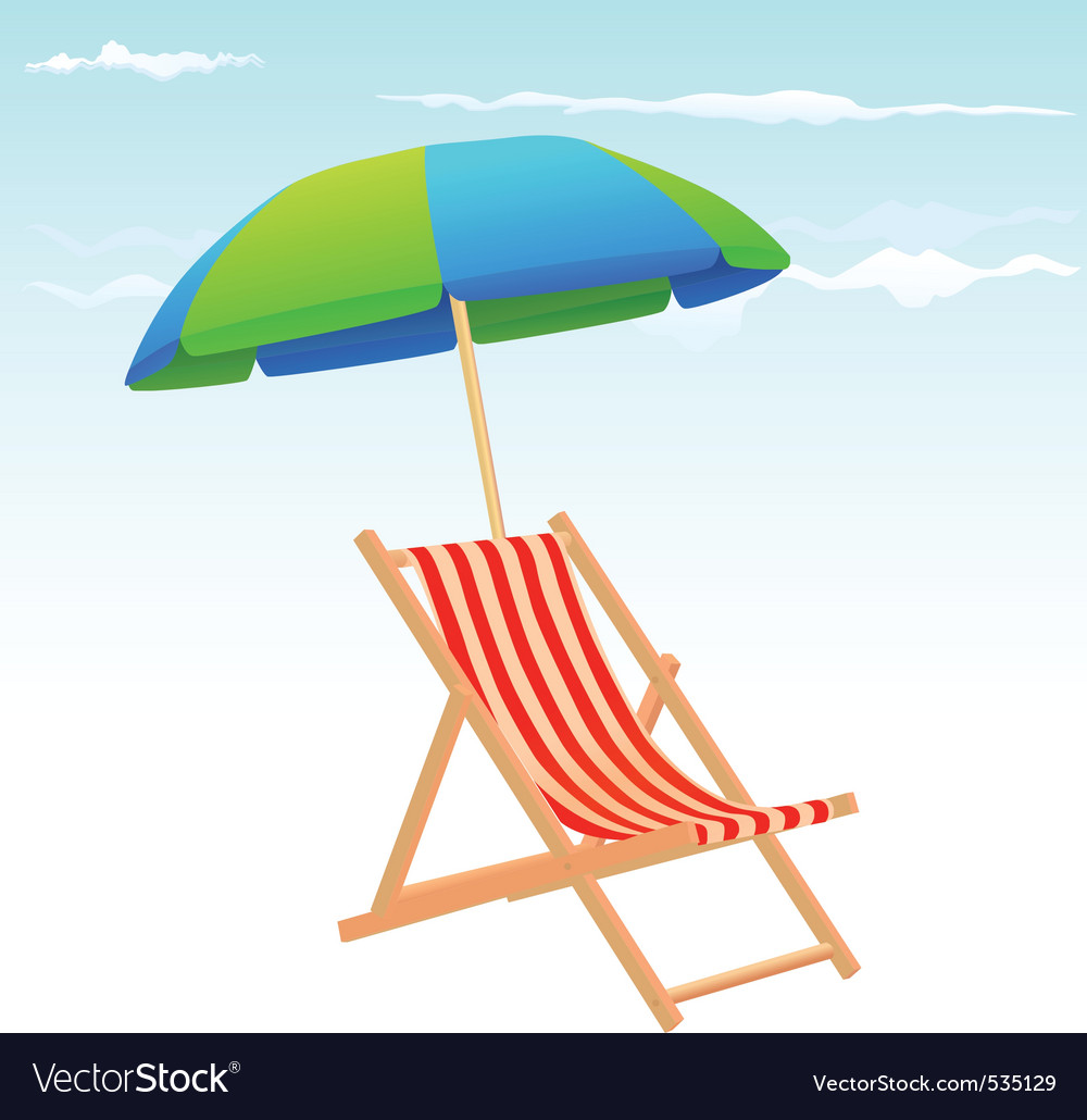 chair and image umbrella free vector beach royalty