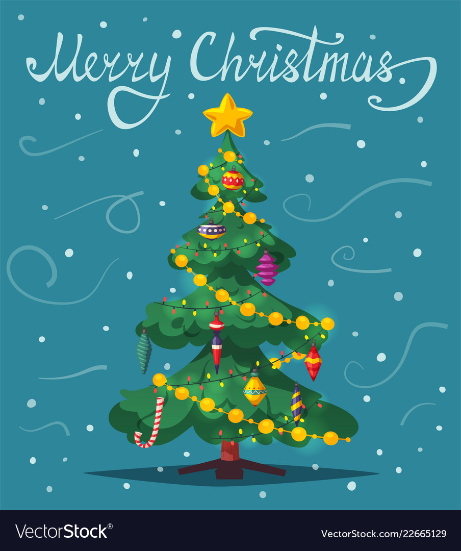 Beautiful Christmas Tree Royalty Free Vector Image
