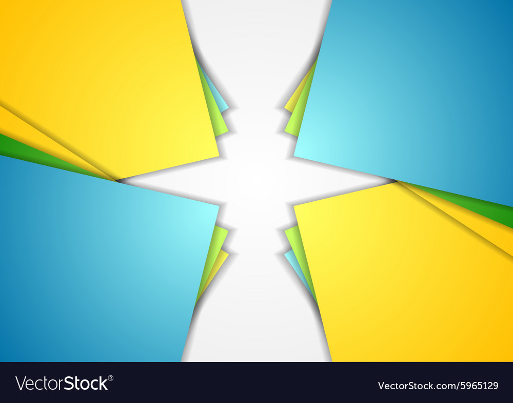 Bright corporate abstract modern background vector image