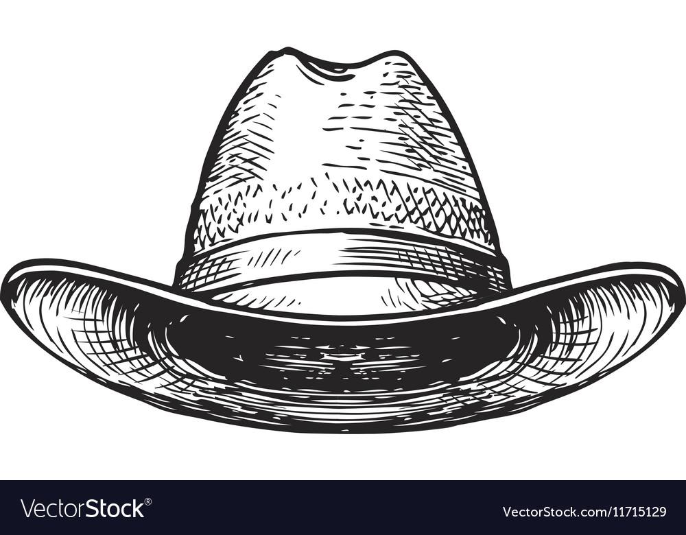 Hat farmer gardener or cowboy Sketch