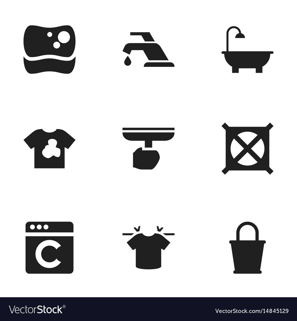 Set of 9 editable hygiene icons includes symbols