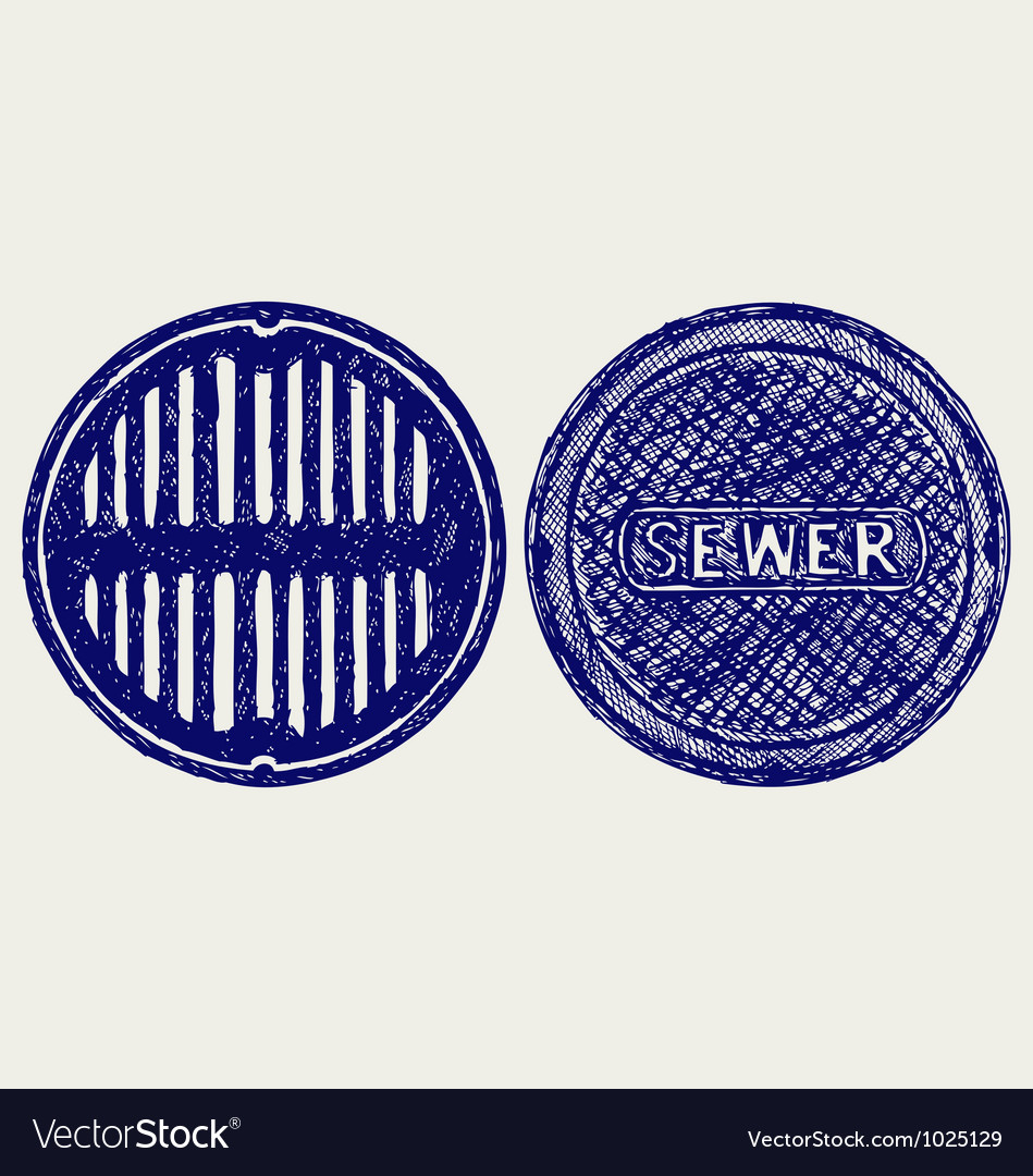 Sewer vector image