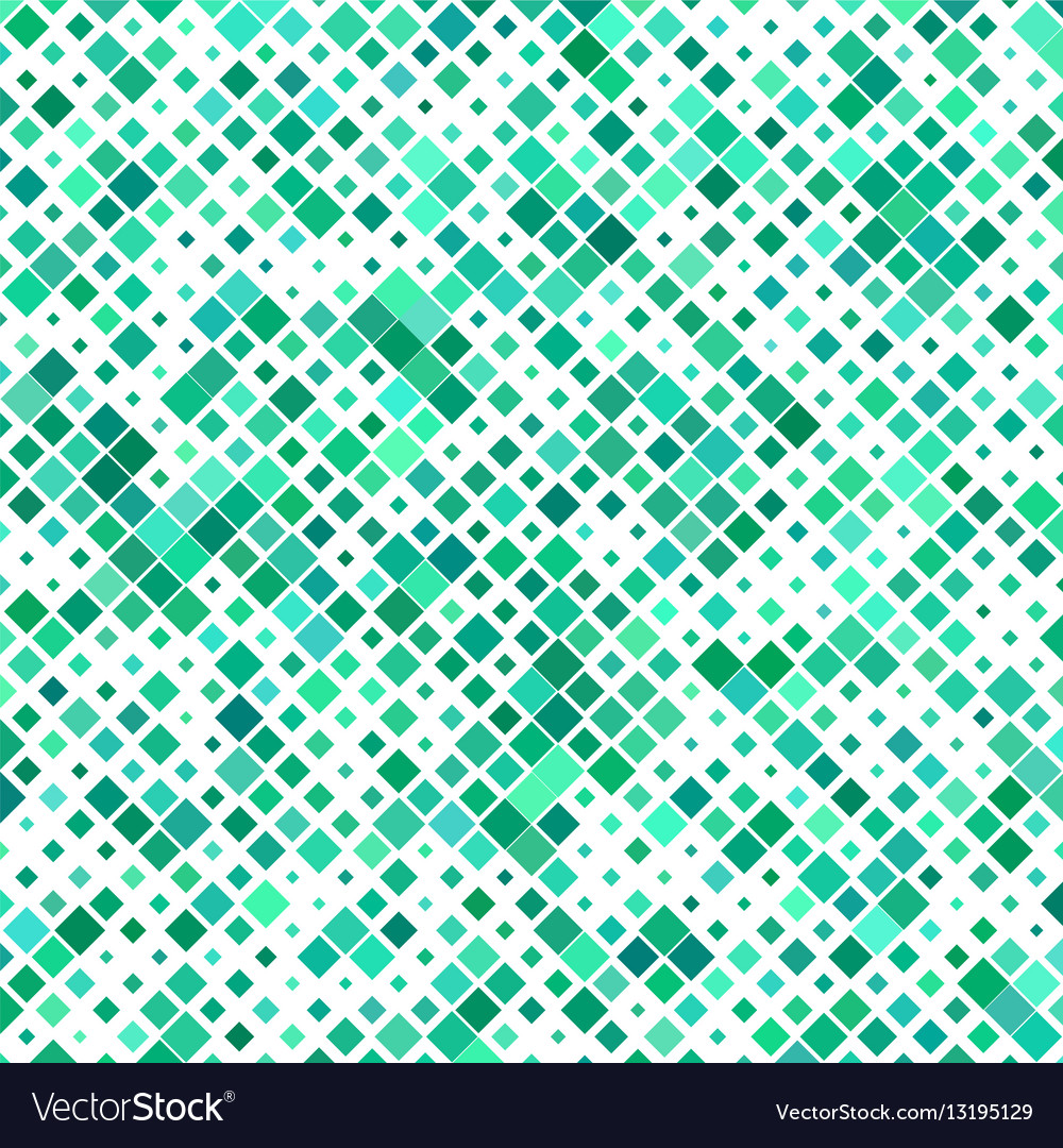 Teal color abstract square pattern background vector image