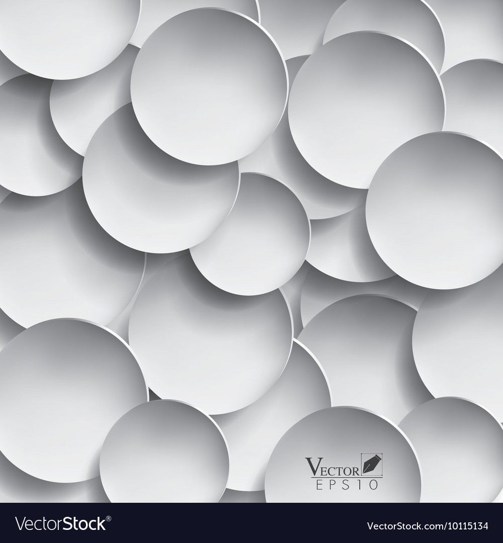 Abstract 3D paper circle design