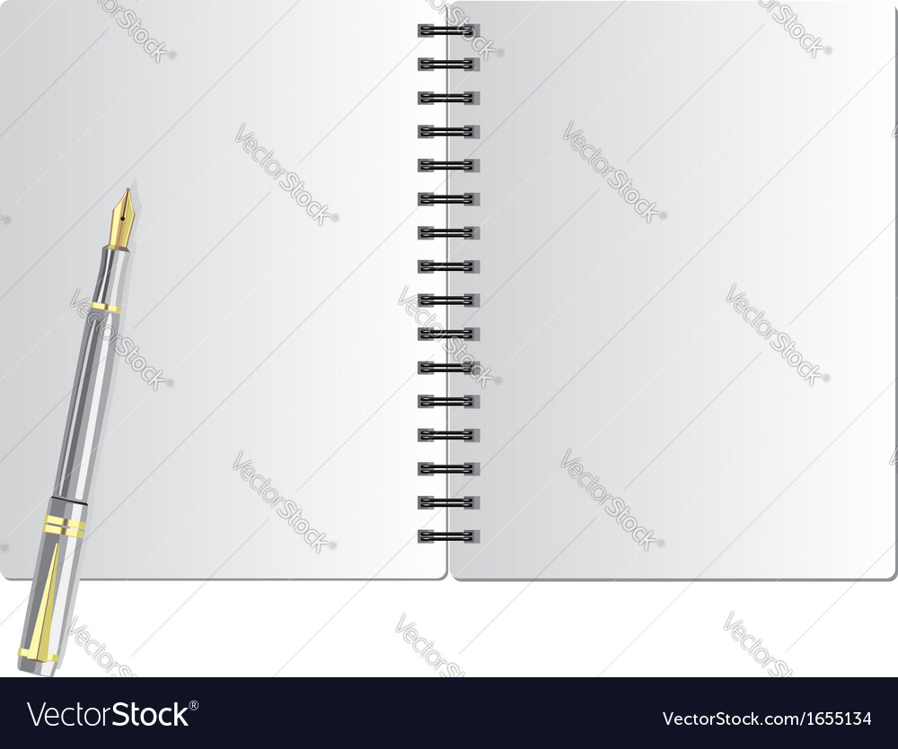 Background from notebook on the black spring and vector image