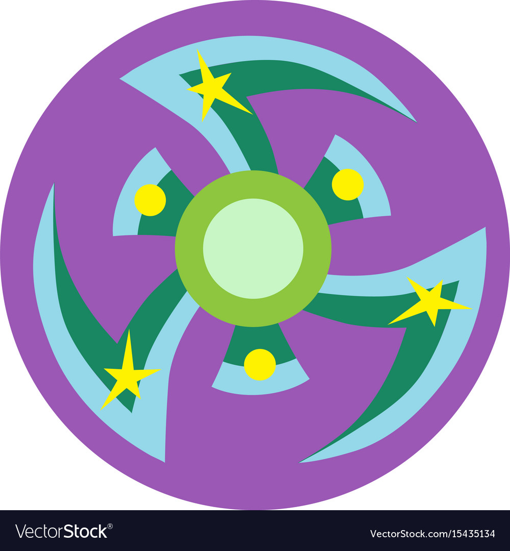 Blue and green spinner vector image