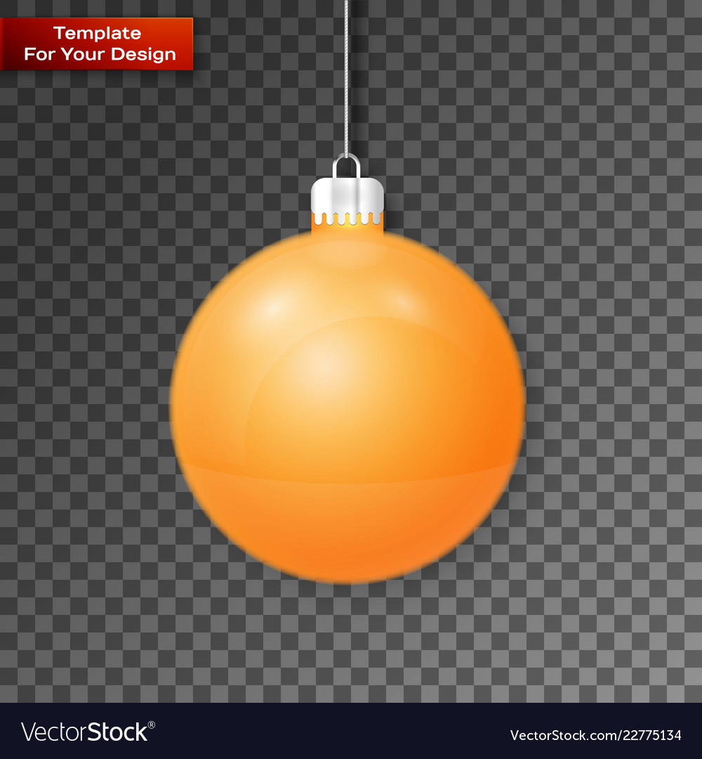 Christmas ball on transparent background