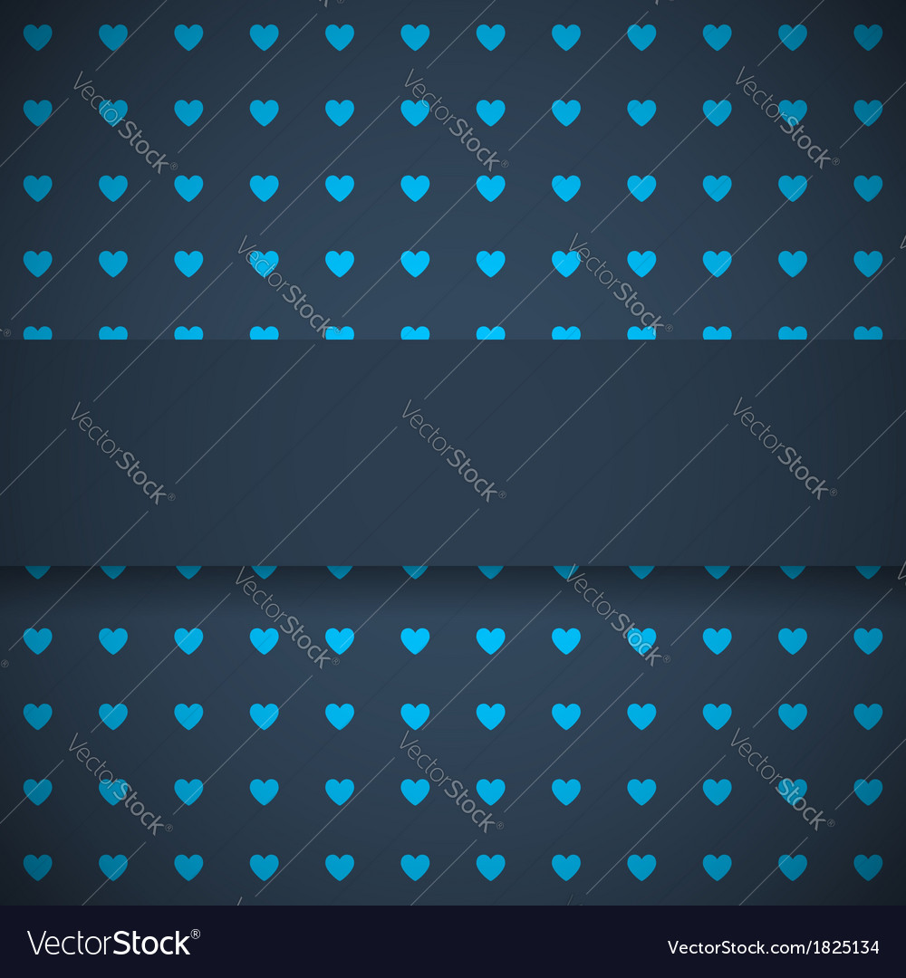 Dark blue background with hearts
