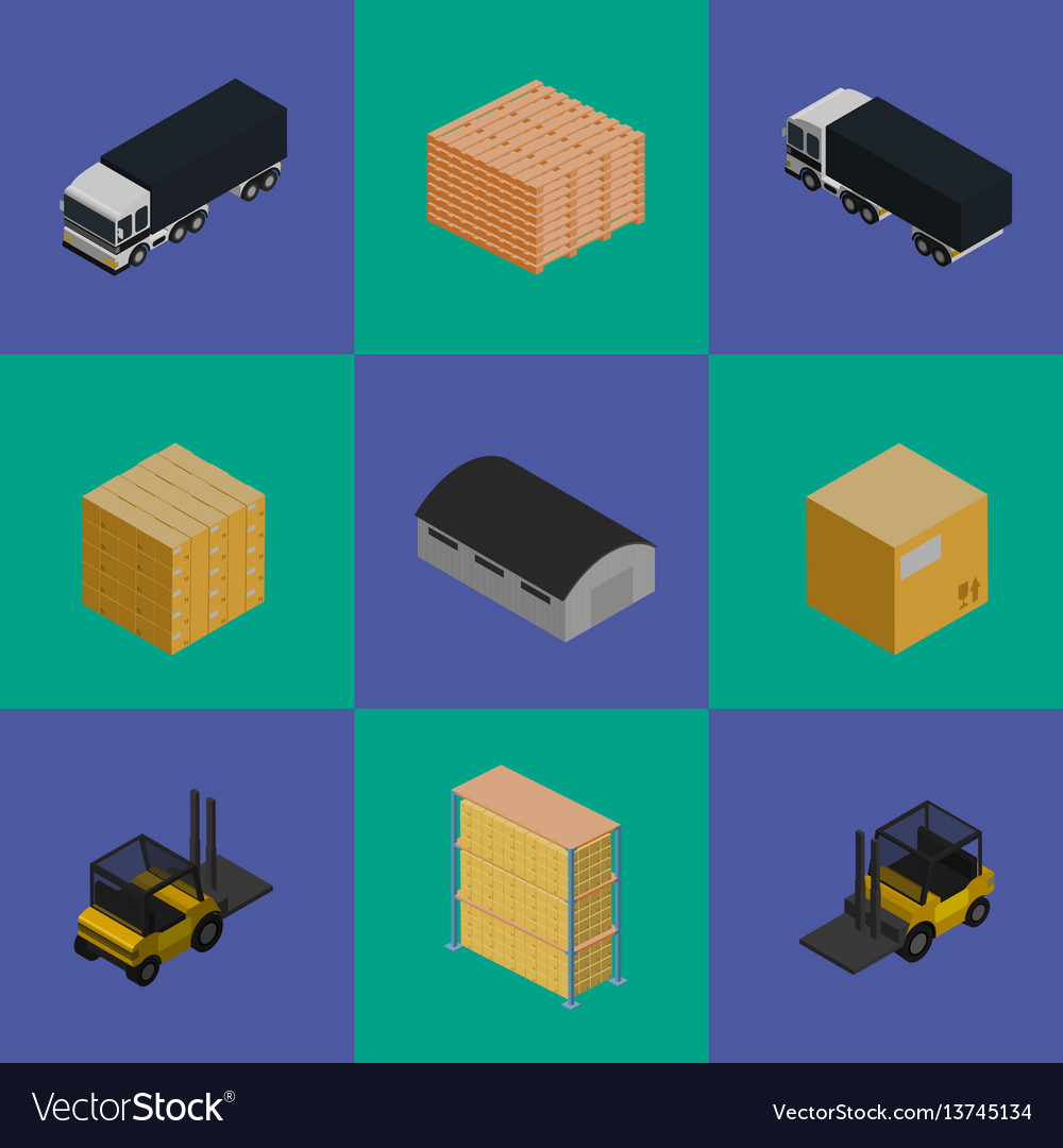 Delivery logistics and transportation icons set