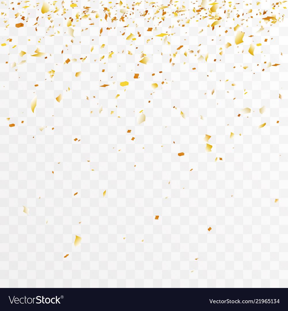 Golden foil confetti trimming pieces decoration