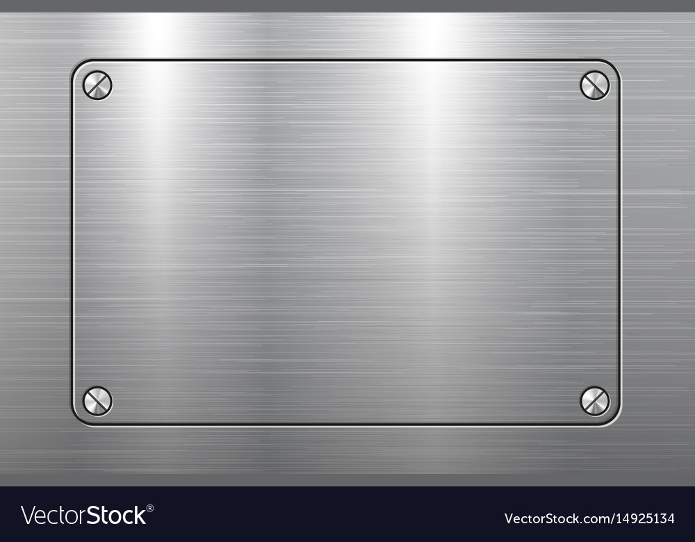Metal plate background vector image